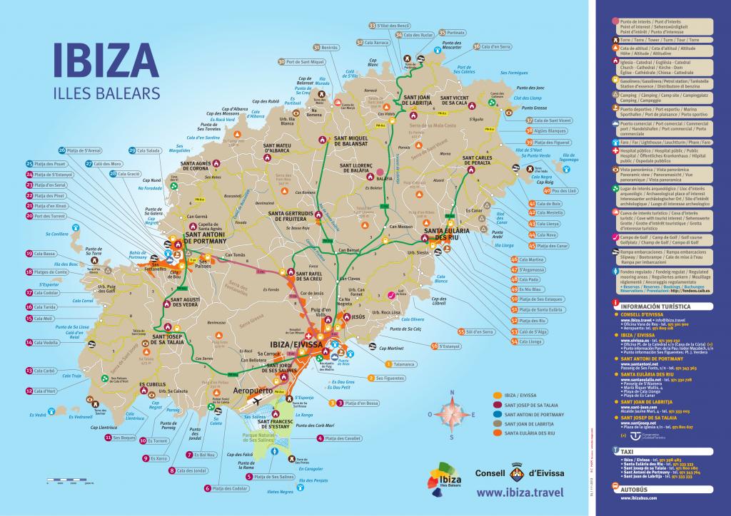 Kaart Ibiza stranden