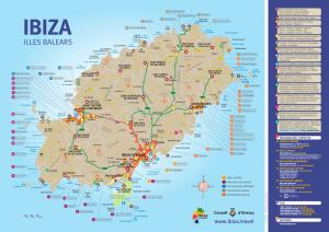 Mooiste stranden Ibiza Kaart - Kaart Ibiza